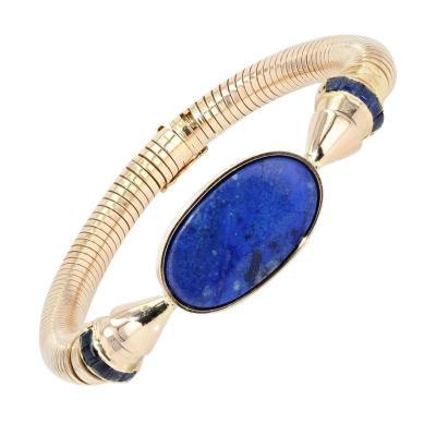 Bracelet Tubogaz Lapis Lazuli Et Saphirs