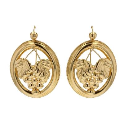 Old Gold Hoop Earrings
