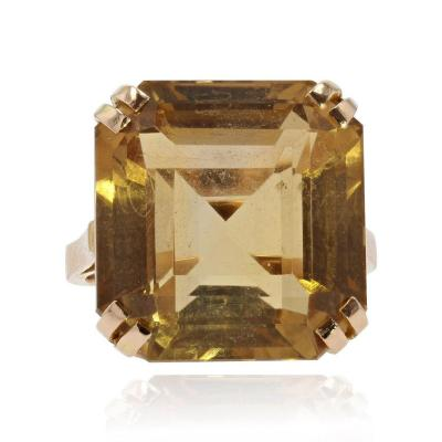 Citrine And Vintage Gold Ring