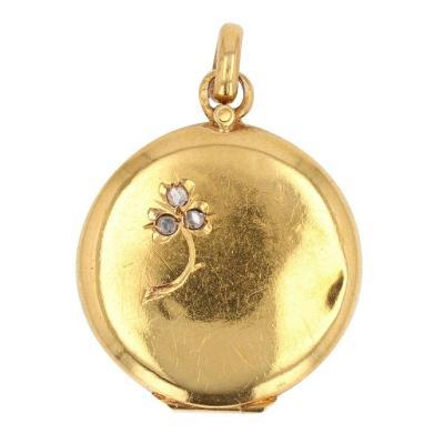 Medallion Pendant Old Gold Diamonds