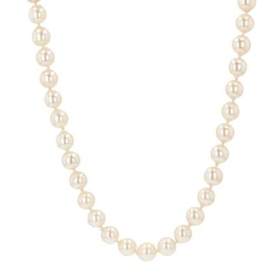 Necklace Of Baroque Cultured Pearls And Its Ancient Clasp