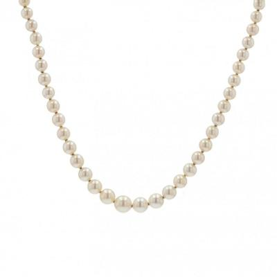 Falling Cultured Pearl Necklace