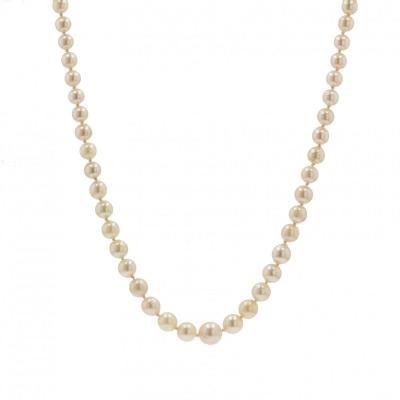 Oriental Cream Pearl Drop Necklace