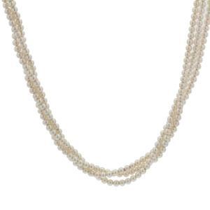 Collier Perles De Culture Et Fermoir Ancien En Or