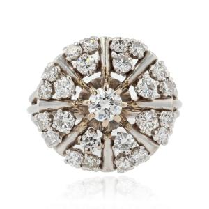White Gold And Vintage Diamond Ring