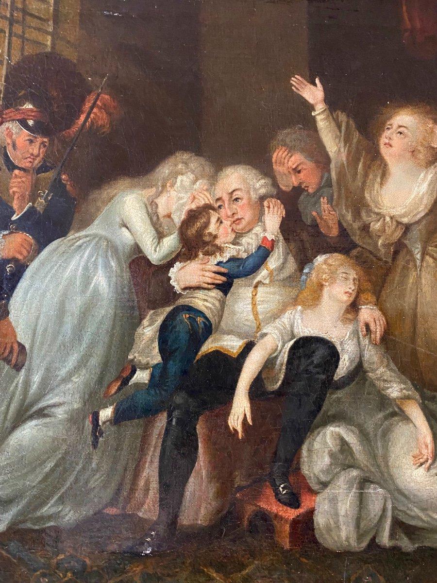 Adieux De Louis XVI A Sa Famille Dans La Prison Du Temple Tableau 19eme -  Tableaux autre genre