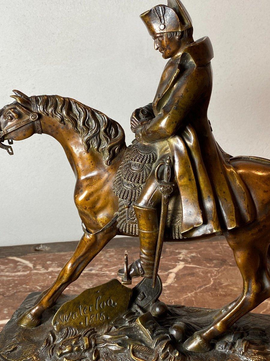 Waterloo   Bronze   Equestre   De   Napoleon   Pour La 1ère  Fois    l'Aigle  Baissait La TÊte-photo-1