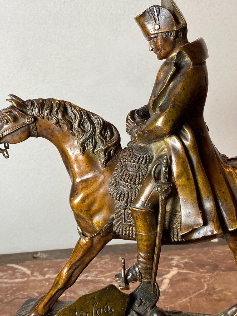 Waterloo   Bronze   Equestre   De   Napoleon   Pour La 1ère  Fois    l'Aigle  Baissait La TÊte-photo-2