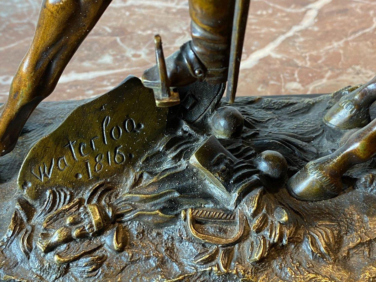 Waterloo   Bronze   Equestre   De   Napoleon   Pour La 1ère  Fois    l'Aigle  Baissait La TÊte-photo-4