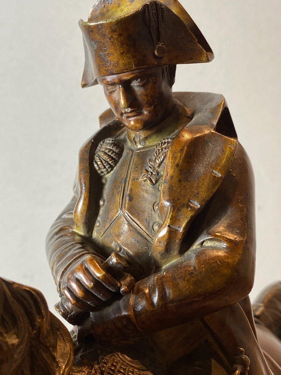 Waterloo   Bronze   Equestre   De   Napoleon   Pour La 1ère  Fois    l'Aigle  Baissait La TÊte