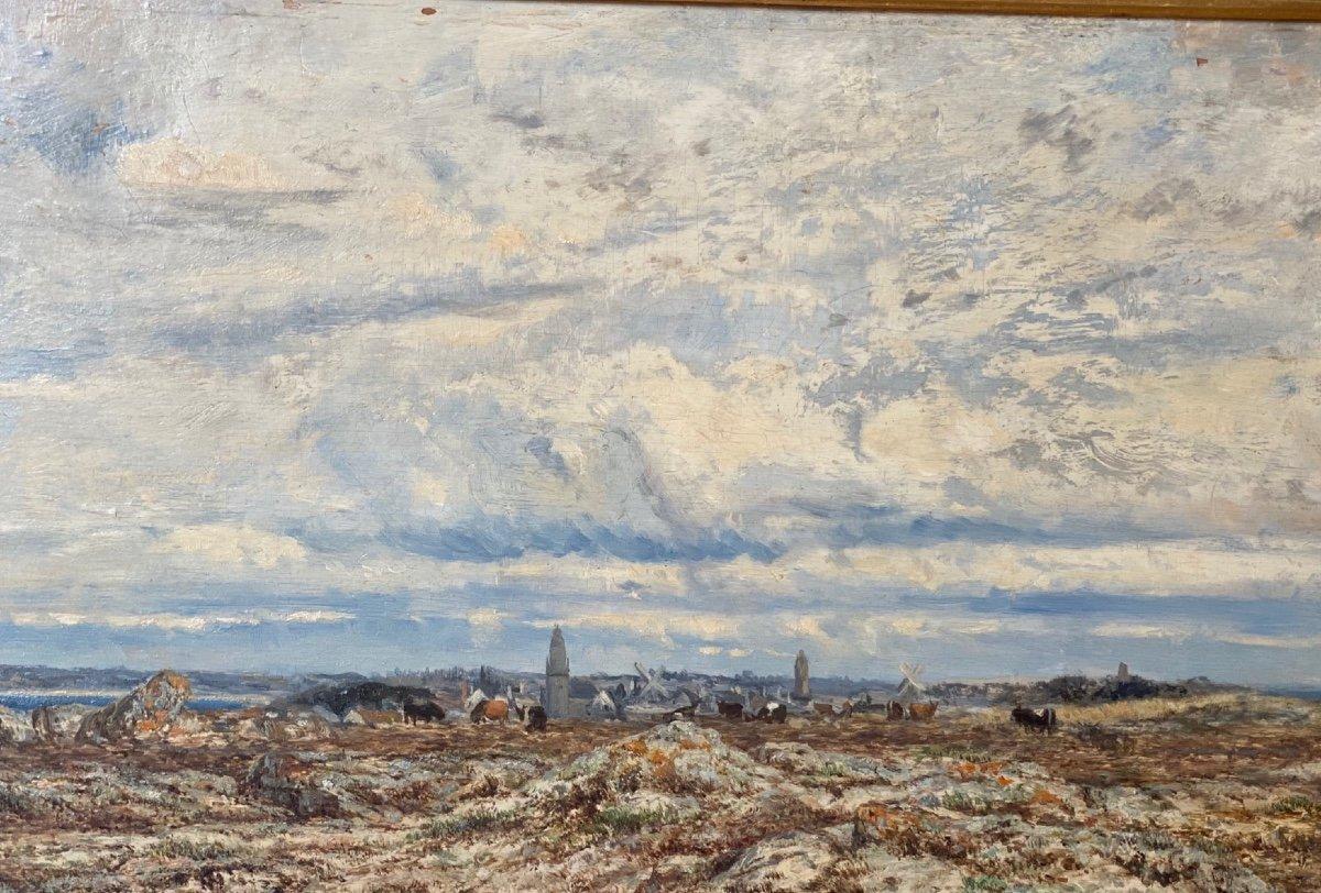 Hsp   Charles Le  Roux    1814-1895    Voiliers Sur l'Estuaire De La Loire  58.5 X 30.5-photo-5