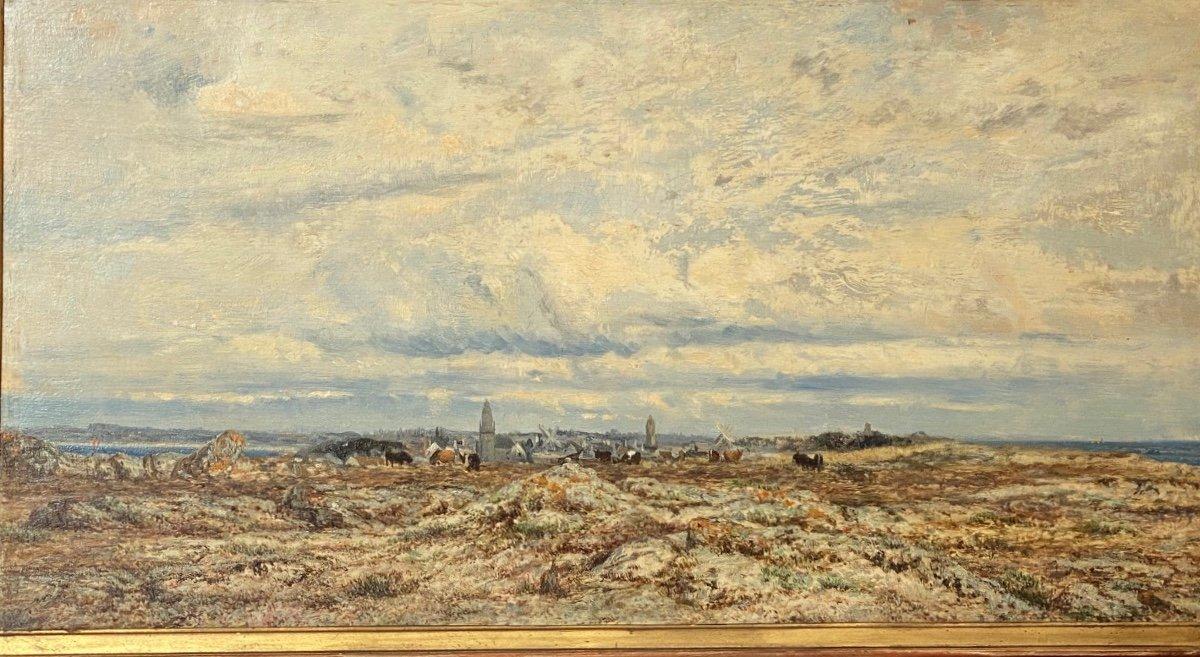 Hsp   Charles Le  Roux    1814-1895    Voiliers Sur l'Estuaire De La Loire  58.5 X 30.5-photo-6