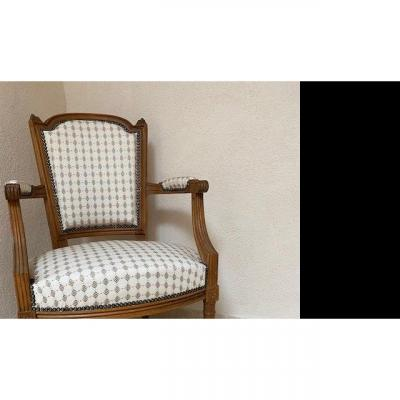 Set Of Four Louis XVI Style Chairs In Cabriolet
