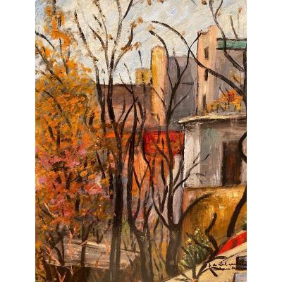Jeanne De Labeaume Painter Belonging To The Boat Movement Montmartre Lavoir