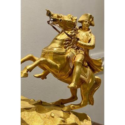 Bonaparte    Franchissant Le  Col Du Grand St Bernard    horloge