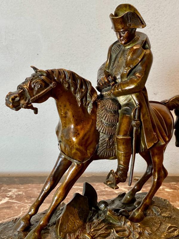 Waterloo   Bronze   Equestre   De   Napoleon   Pour La 1ère  Fois    l'Aigle  Baissait La TÊte-photo-3