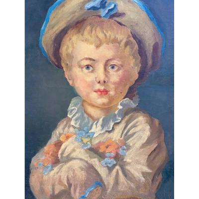 L'enfant en Pierrot  d'après  l'original de  Jean Honoré FRAGONARD  dans la WALLACE COLLECTION