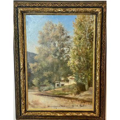 Villa    À  Birmandreis      Baie   d'  Alger    En 1884  Signé   Charles  AndrÉ