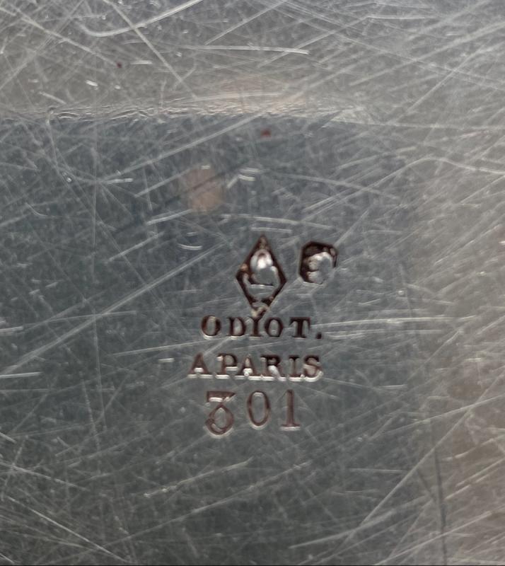 Plat   En  Argent  Massif   Maison  Odiot A Paris ,    Vente SUCCESSION  MURAT -photo-2