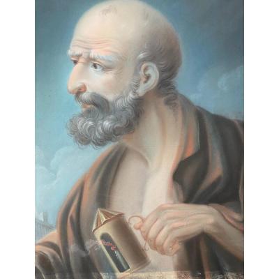 Pastel  Du  Philosophe Grec   Diogenes    SignÉ  Et   DatÉ   1809
