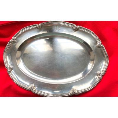 Oval Dish In Silver Maison Odiot In Paris Hallmark Minerva And Hallmark Of Master Goldsmith