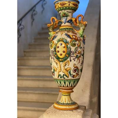 """IMPORTANT ITALIAN VASE IN THE SHAPE OF A BALUSTER 32 """""""