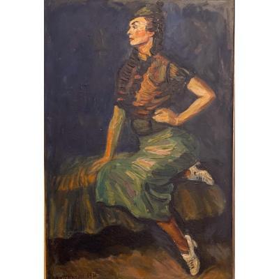 Huile Sur Toile    Boris  Kamins  1936    Artist Russe.
