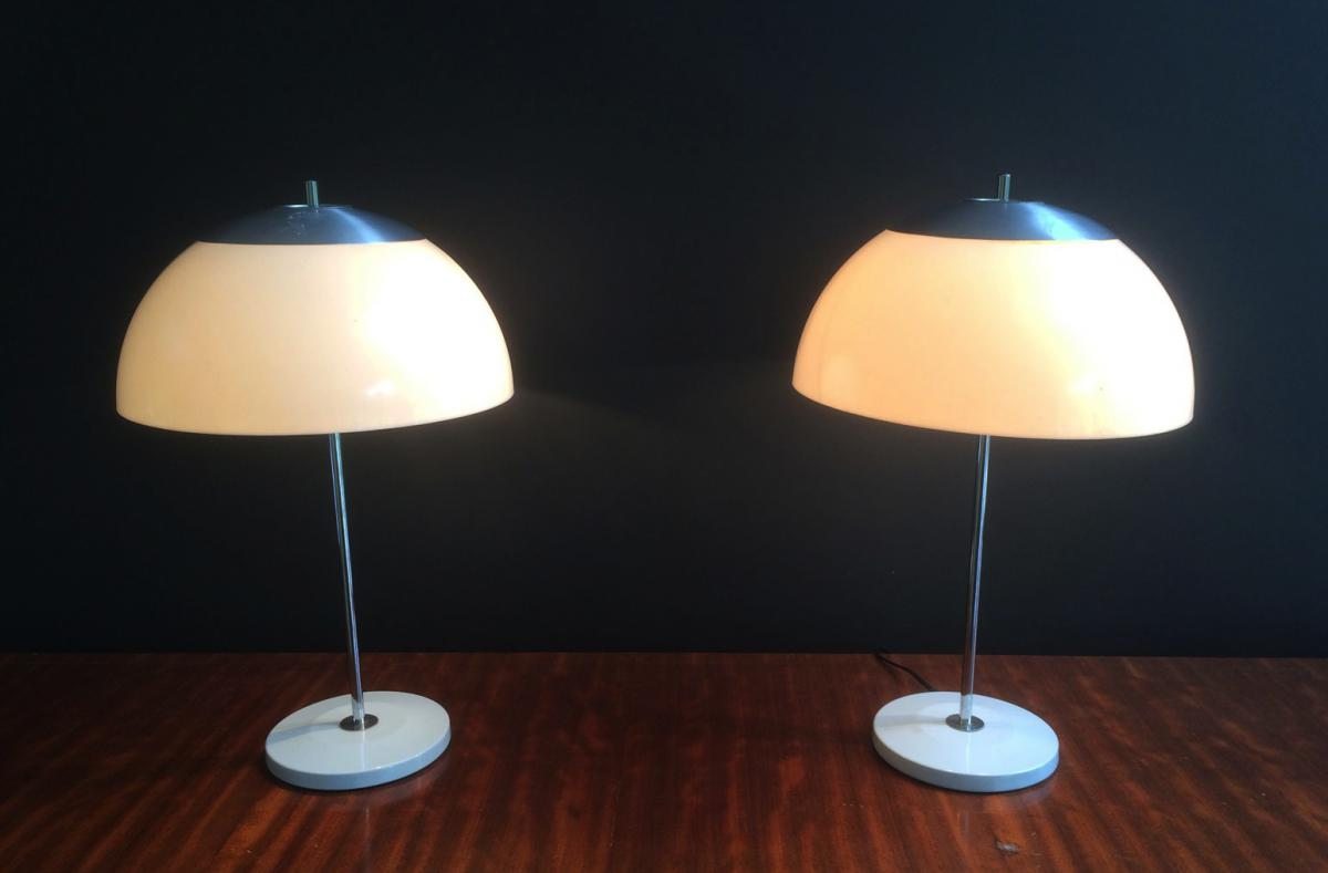 Paire De Lampes Design. Vers 1970
