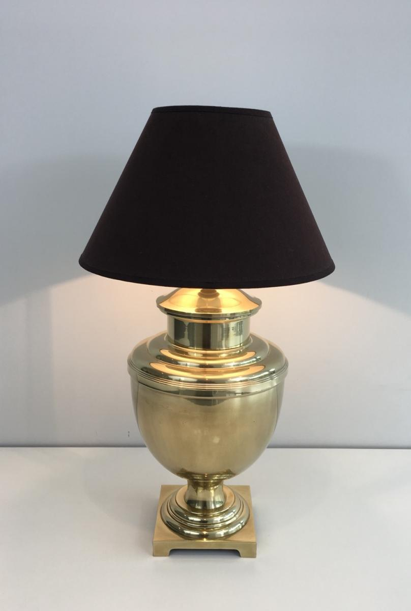 Brass Table Lamp. Circa 1970