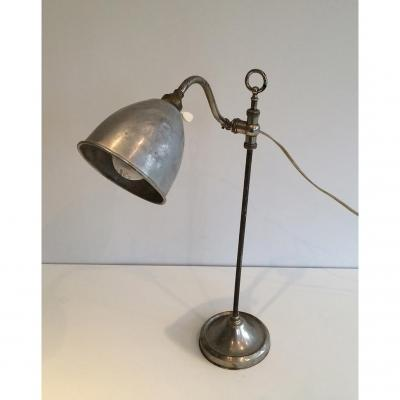 Lampe Industrielle Monte et baisse. Vers 1900