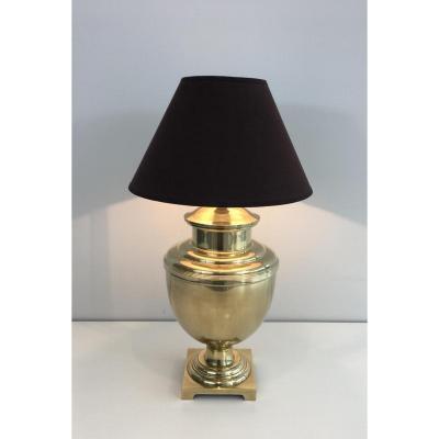 Lampe En Laiton. Vers 1970