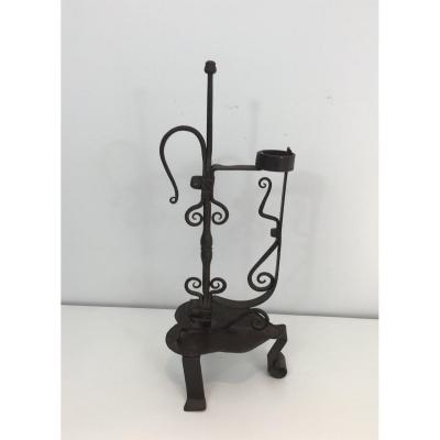 Wrought Iron Candle Holder. French, Circa 1920