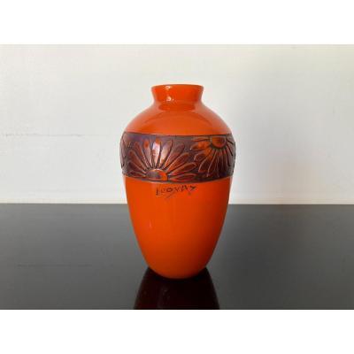 Vase Ancien Art Deco Legras