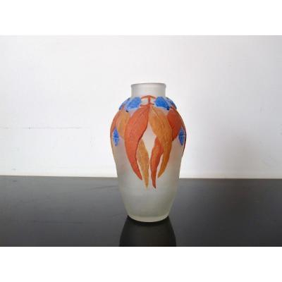 Ancien Vase Art Deco Peynaud