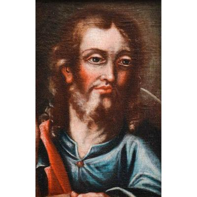"""christ"" - Oil On Canvas 1700s"