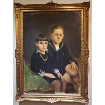 Portrait De Deux Adolescents