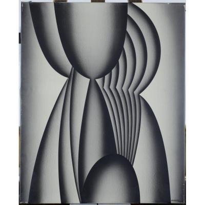 Miodrag (Miodrag Djordjevic), Serbie 1936, Composition Abstraite, Répertorié, Coté