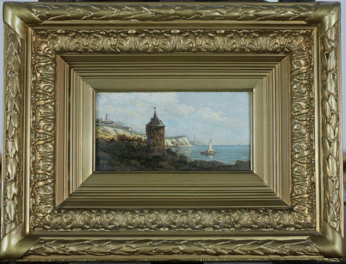 Pierre-eugène Grandsire, Orléans 1825, Marine, Vue De Côte, Bénézit, Cote 1.300 €