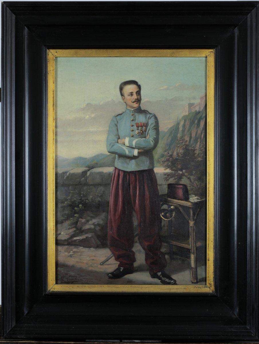 Alb. Lenpen, XIXe, Chasseur d'Afrique, 1900, Algérie, Cavalier En Uniforme