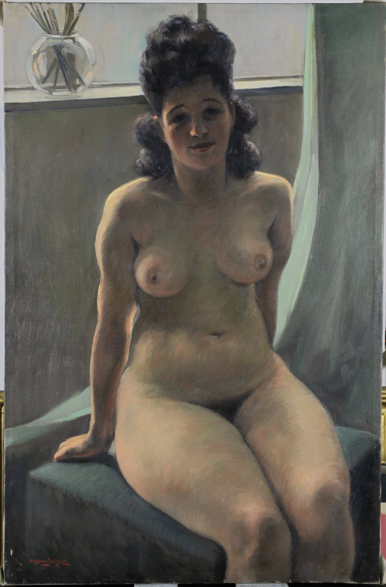 Ludovic Janssen, 1888, Nude In The Atelier, Artist's Wife, Listed, Listed