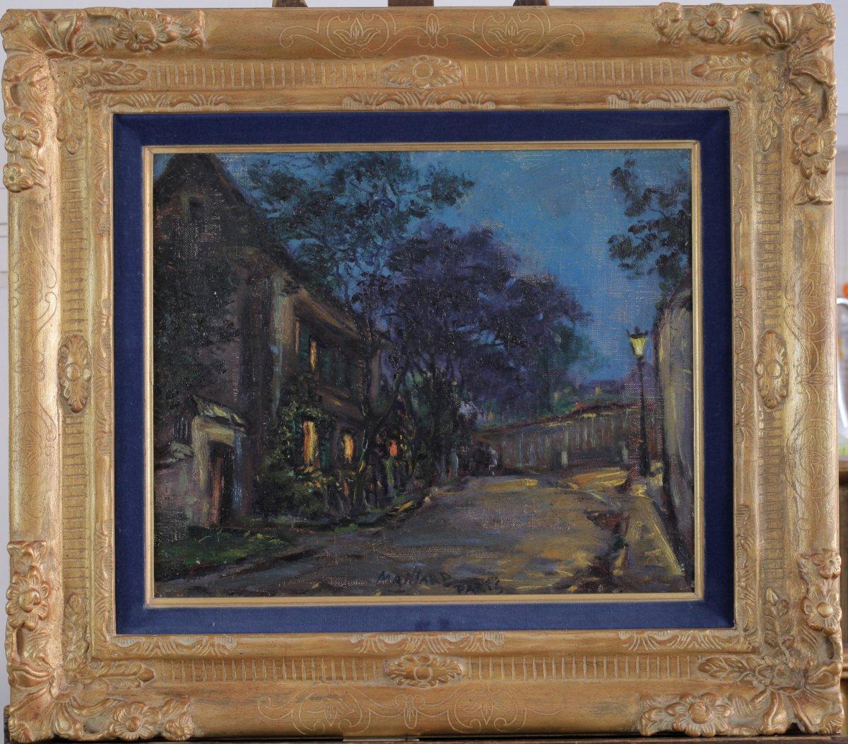 Jean Maillard, 1901, Paris, Montmartre, Cabaret Au Lapin Agile, Nighttime Atmosphere