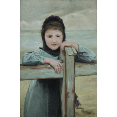 Nestor Reymen, 1872, La Fille Du Pêcheur, Mer Du Nord, Circa 1920