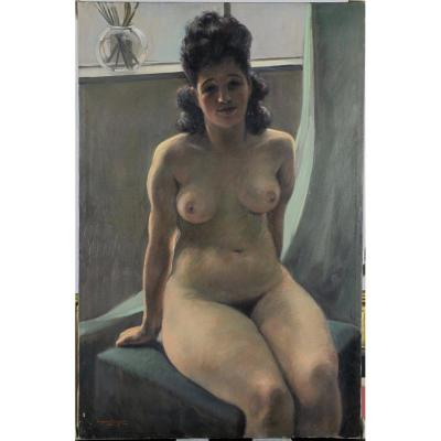 Ludovic Janssen, 1888, Nu à l'Atelier, Epouse De l'Artiste, Répertorié, Coté 1.400 euros