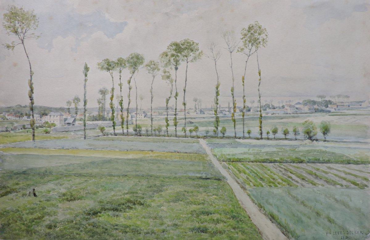 Paul Leyendecker - Vue de la plaine du Chesnay, près Versailles