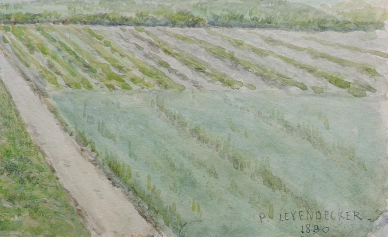 Paul Leyendecker - Vue de la plaine du Chesnay, près Versailles-photo-2