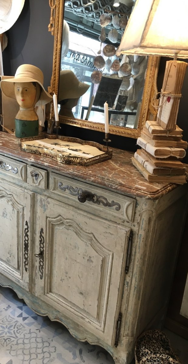 18th Century Buffet Marble Top