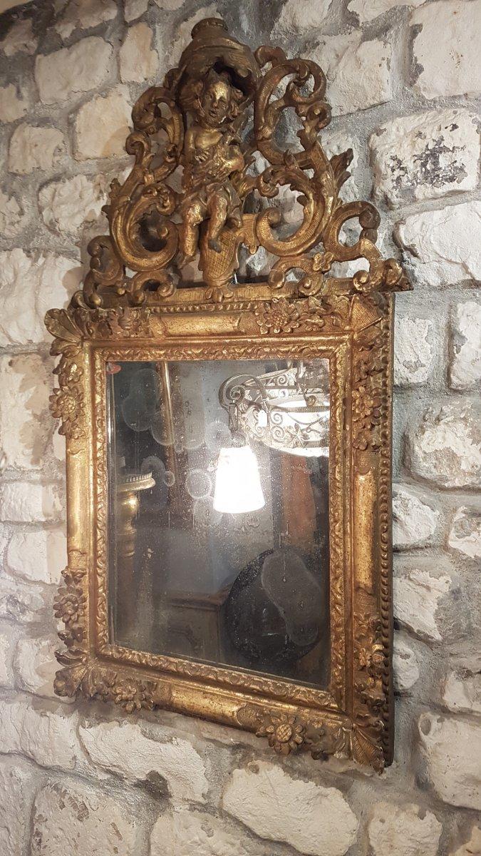 Miroir à Fronton époque Régence