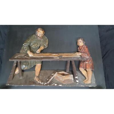 Bas Relief Bois Sculpté XVI Ème