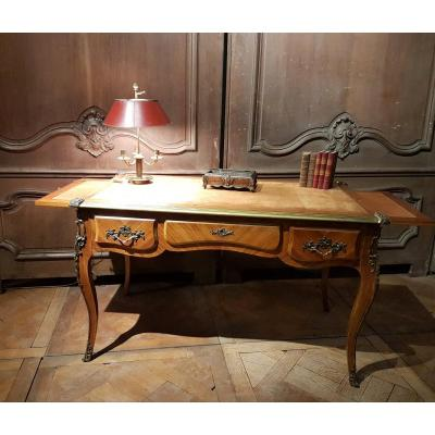 Louis XV Style Flat Bureau In Marquetry