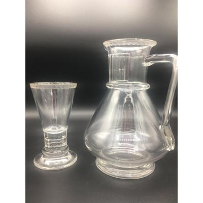 Service de verres En Cristal  J&L Lobmeyr Wien , Autriche  , Vienne Fin 19eme